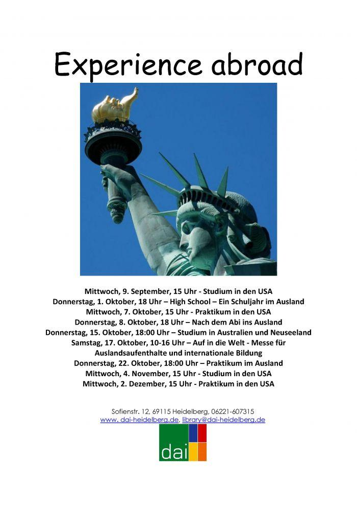 Infoveranstaltungen zum Auslandssemester